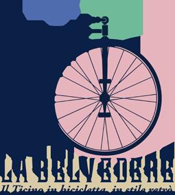 logo LA BELVEDERE - Il Ticino in bicicletta in stile retrò
