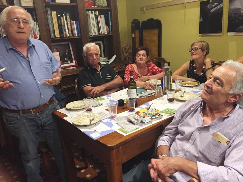 L'Intrepida | La cena con gli amici della Transumanza in Bici | L'Intrepida | foto con piero
