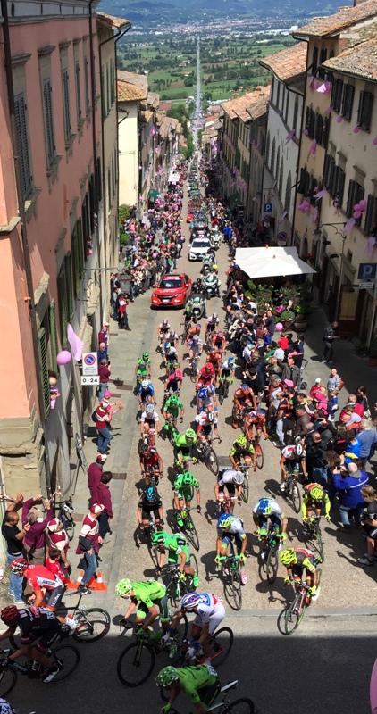 serpentone rosa Giro d'Italia Anghiari